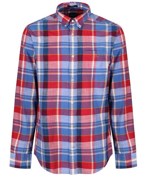 Men's GANT Madras Colourful Shirt - Cardinal Red