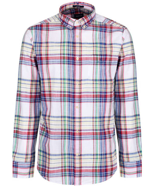 Men's GANT Madras Classic Shirt - White