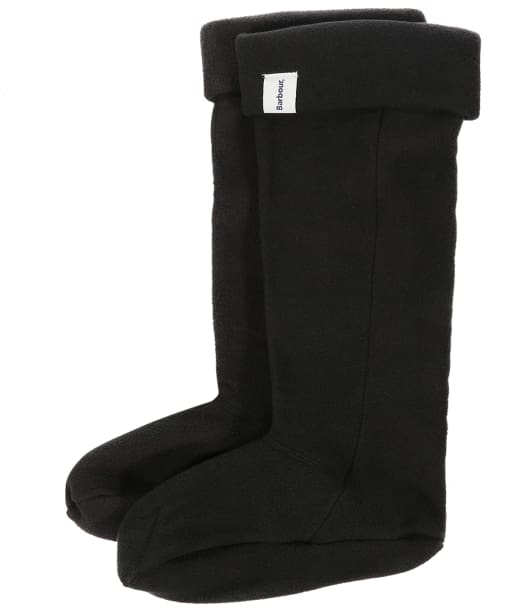 Barbour Fleece Wellington Socks - Black