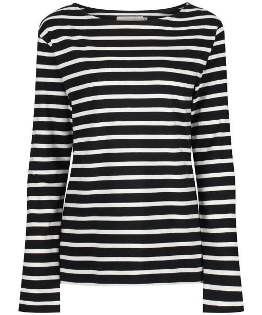 Women's Seasalt Sailor Shirt - Breton Black Ecru