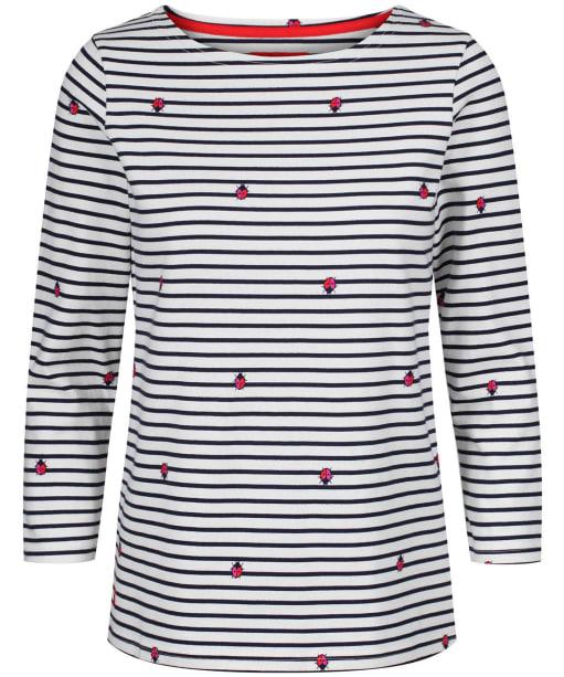 Women's Joules Harbour Printed Top - Cream Ladybird Stripe