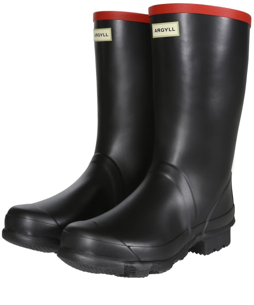 Hunter Argyll Short Knee Wellington Boots - Black