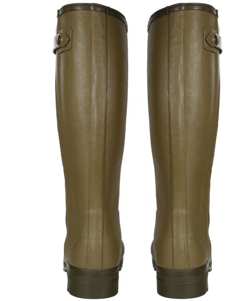Men's Le Chameau Chasseur Leather Lined Wellingtons - 41cm calf - Green