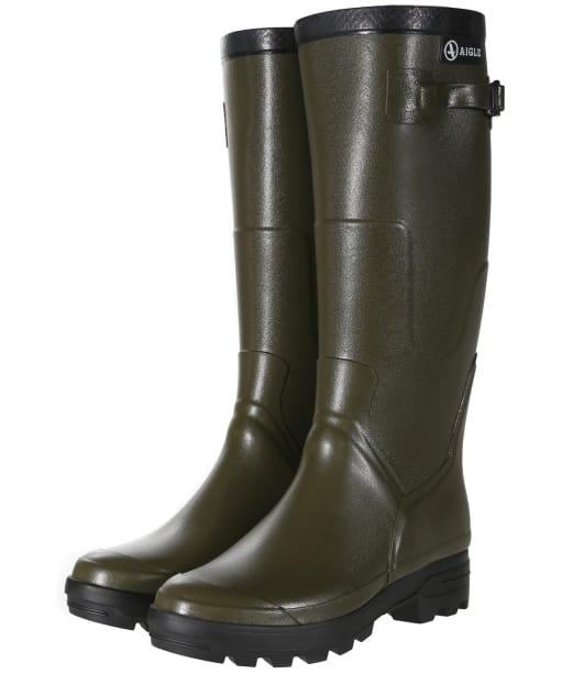 Aigle Benyl Medium Wellington Boots - Khaki