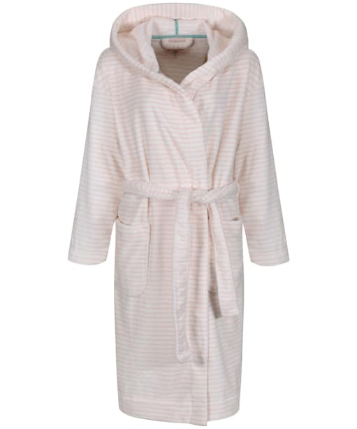 Women's Joules Rita Dressing Gown - Cream / Pink Stripe