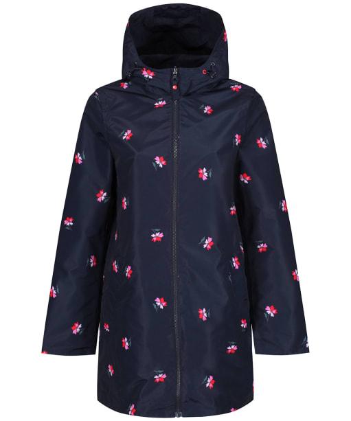 Women's Joules Dockland Reversible Waterproof Jacket - Navy Posy