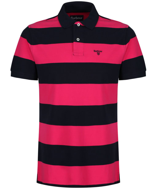Men's Barbour Harren Stripe Polo Shirt - Sorbet