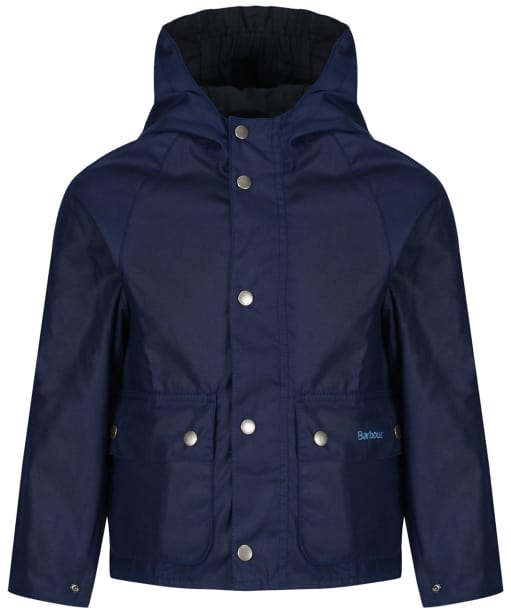 Boy's Barbour Pass Waxed Jacket, 10-15 yrs - Regal Blue