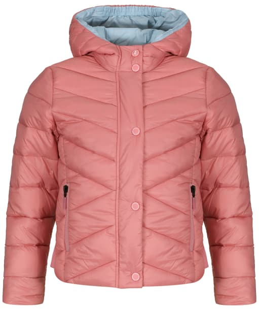 Girls Barbour Isobath Quilted Jacket, 2-9yrs - Vintage Rose