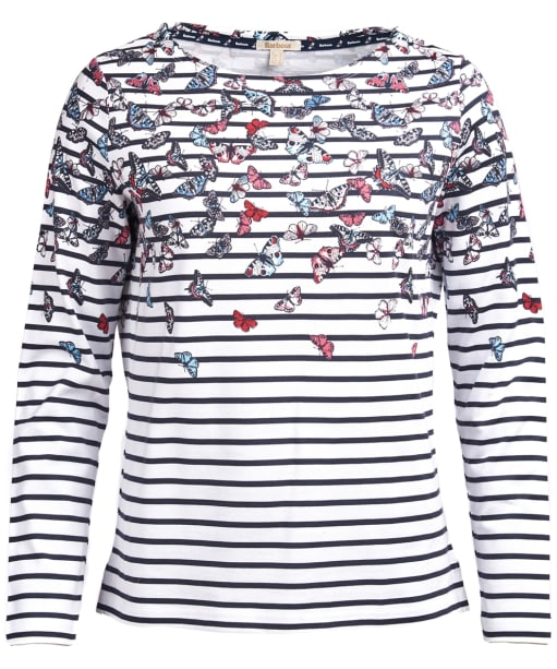 Women's Barbour Bowfell Top - White / Navy