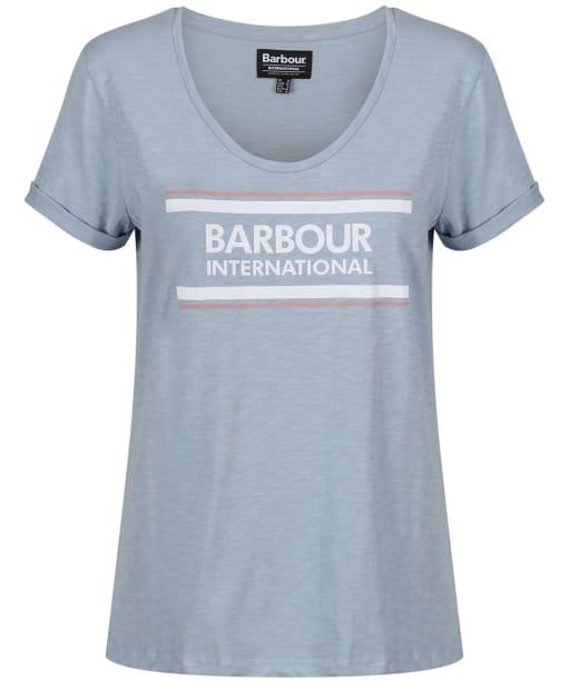 Women's Barbour International Perez Tee - Ice Blue