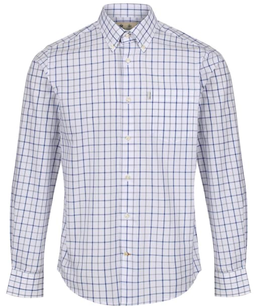 Men's Barbour Tattersall 4 Regular Shirt - Mid Blue