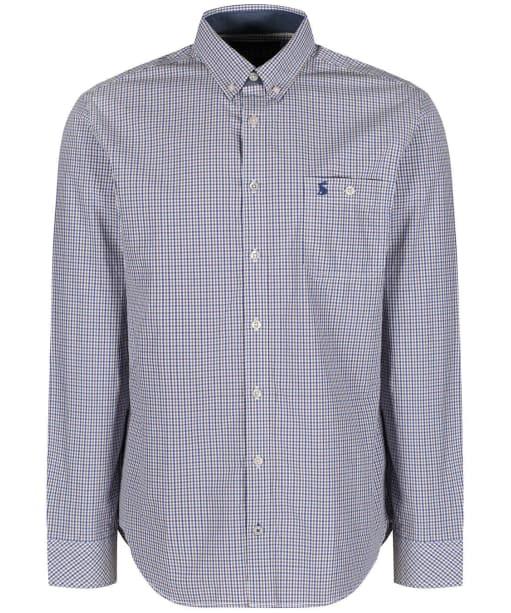 Men's Joules Hewney Shirt - Brown / Blue Gingham