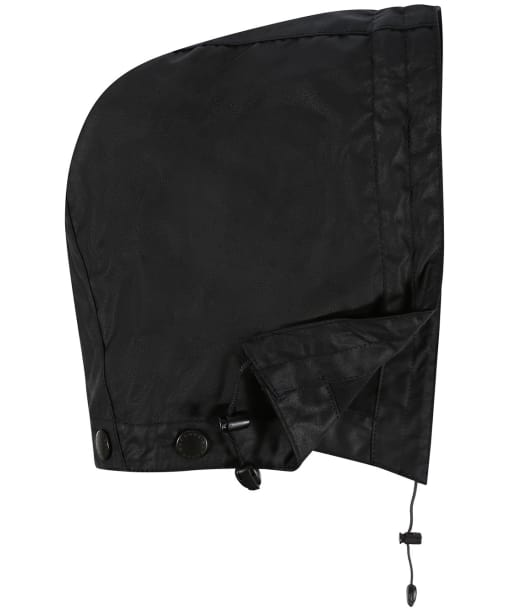 Barbour Waxed Cotton Plain Hood - Black