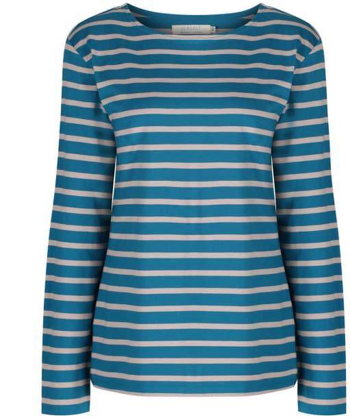 Women's Seasalt Sailor Shirt - Breton Mid Teal Parsnip