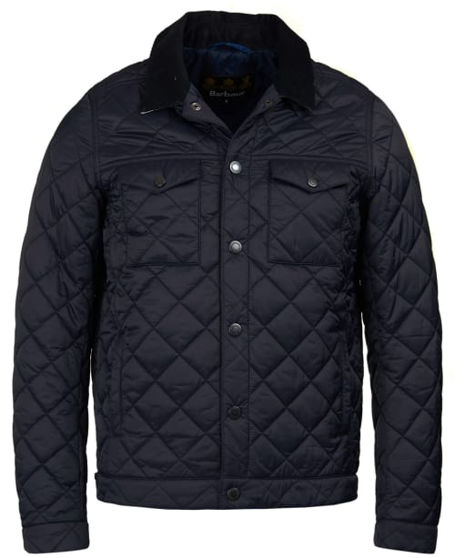 Men's Barbour Pardarn Quilted Jacket - Navy