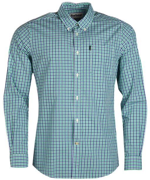 Men's Barbour Gingham 1 Tailored Shirt - Green