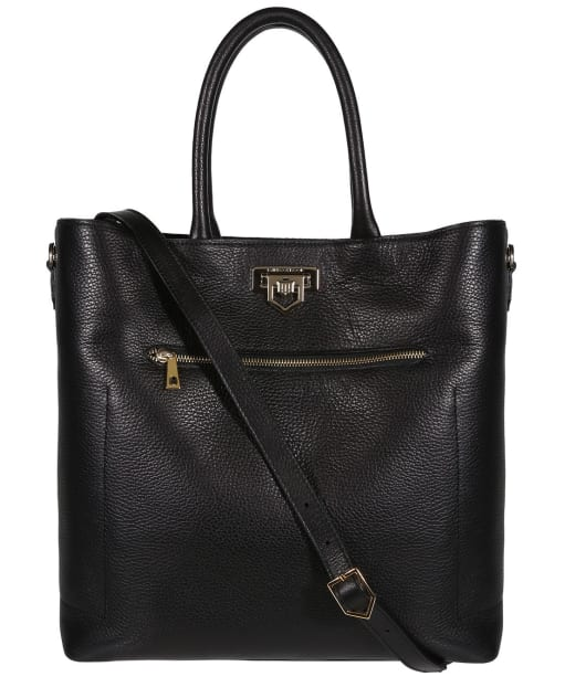 Women's Fairfax & Favor Loxley Leather Tote Bag - Black Leather