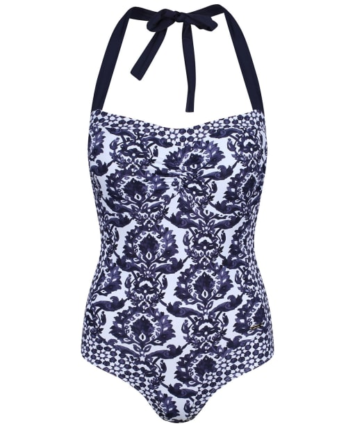 Women's Joules Prudith Halterneck Swimsuit - Navy Damask