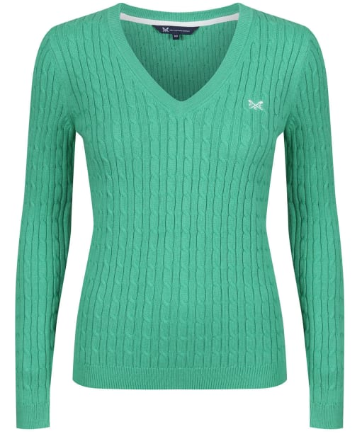 Women's Crew Clothing Heritage Cable Sweater - Jade Green