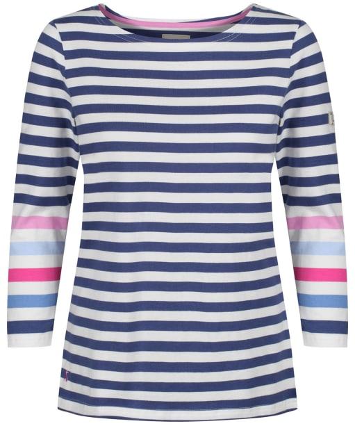 Women's Joules Harbour Top - Cream / Blue Stripe