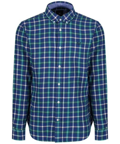 Men's Crew Clothing Anderby Check Shirt - Bright Navy / Botany Green
