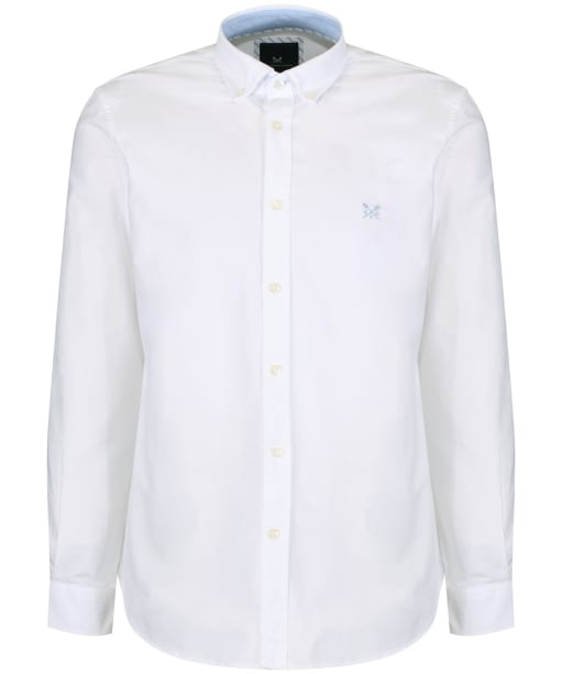 Men's Crew Clothing Plain Oxford Shirt - White