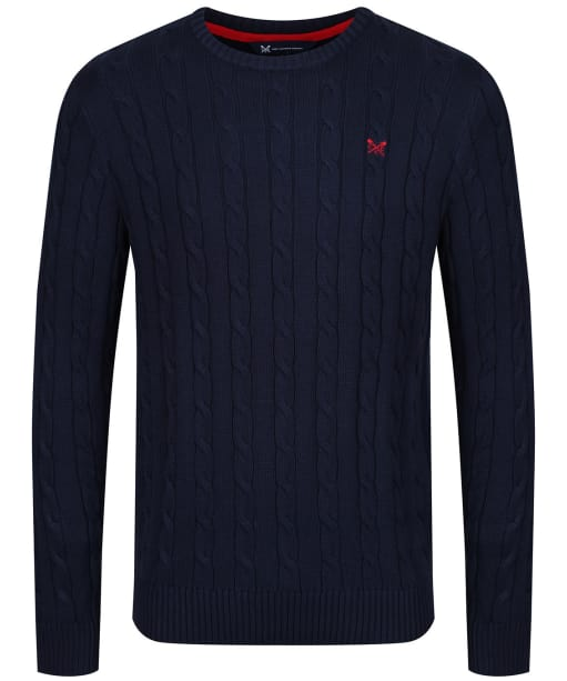Men's Crew Clothing Regatta Cable Sweater - Navy