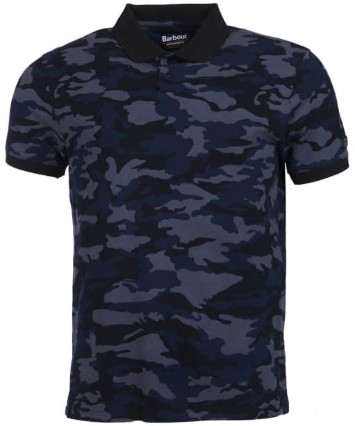 Men's Barbour International Camo Polo Shirt - Black