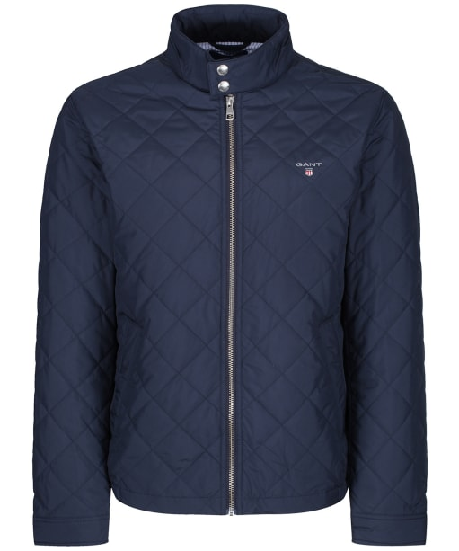 Men's GANT Quilted Windcheater Jacket - Evening Blue