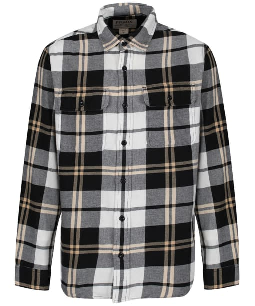 Men's Filson Scout Shirt - Black / White / Gold