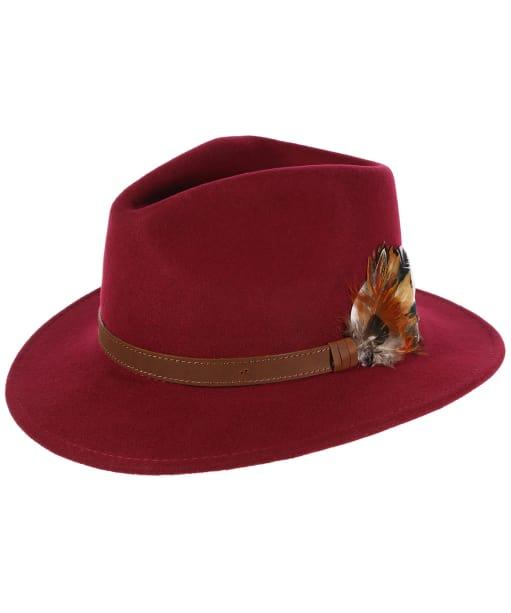 Alan Paine Richmond Felt Hat - Wine
