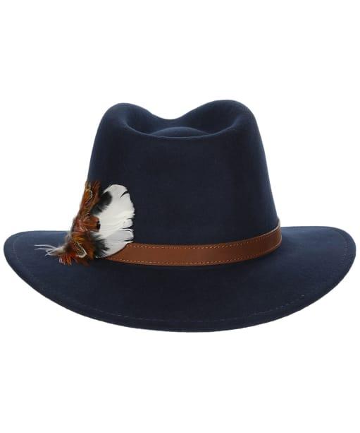Alan Paine Richmond Felt Hat - Navy