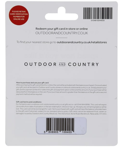 Outdoor and Country - Gift Card - No Colour