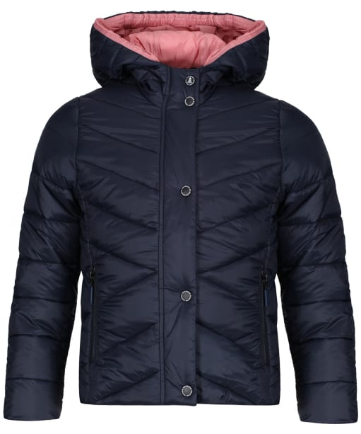 Girls Barbour Isobath Quilted Jacket, 2-9yrs - Navy