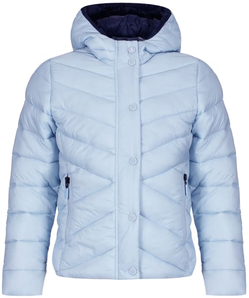 Girls Barbour Isobath Quilted Jacket, 10-15yrs - Powder Blue