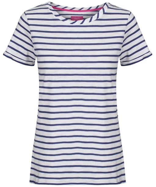 Women's Joules Nessa Jersey T-Shirt - Cream / Blue Stripe
