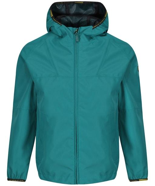 Boys Barbour International Grange Waterproof Parka Jacket, 10-15yrs - Rich Green