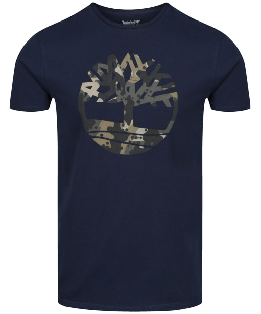 Men's Timberland Kennebec River Seasonal Pattern Tee - Dark Sapphire Tree