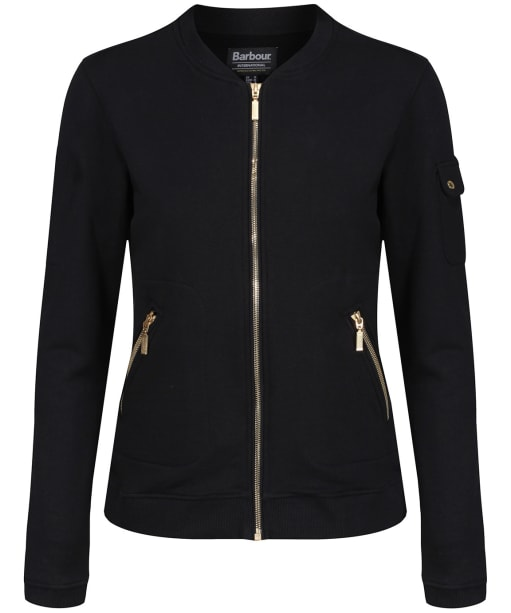 Women's Barbour International Division Sweater Jacket - Black