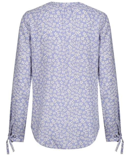 Women's Crew Clothing Tie Cuff Blouse - Cornflower Print