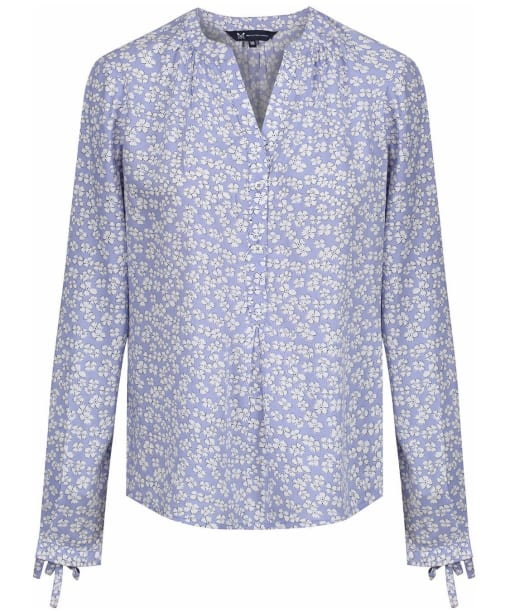 Women's Crew Clothing Tie Cuff Blouse - Cornflower Print