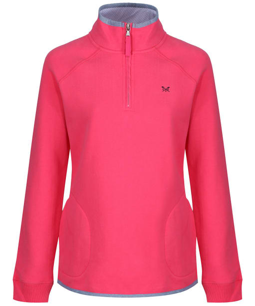 Women's Crew Clothing ½ Zip Sweatshirt - Summer Pink