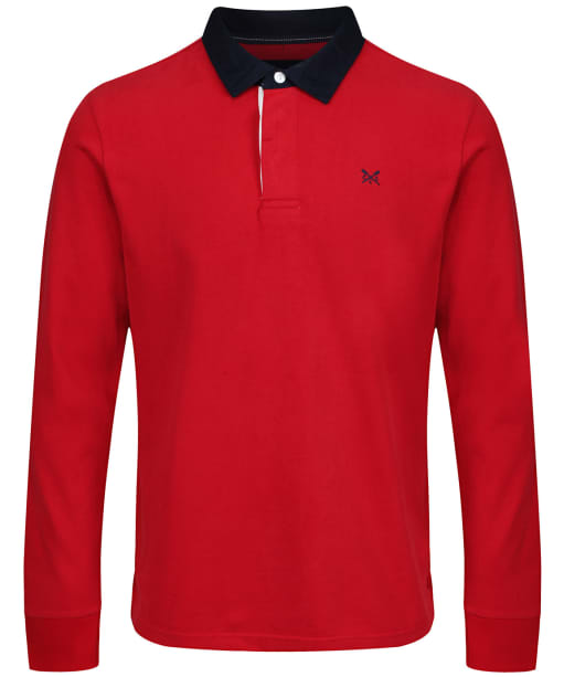 Men's Crew Clothing Long Sleeve Rugby Shirt - Red