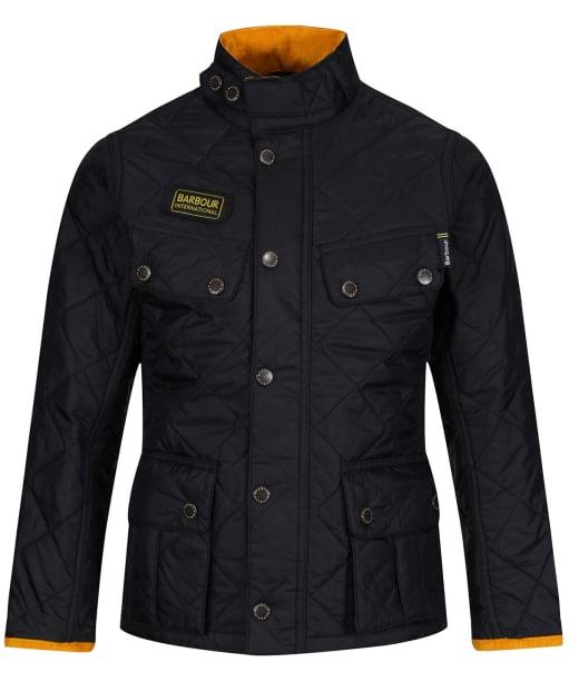 Boys Barbour International Quilted Ariel jacket, 10-15yrs - Black