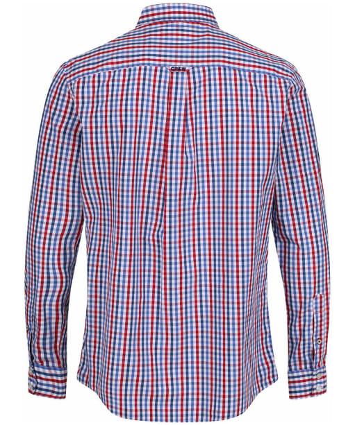Men's Crew Clothing Classic Gingham Shirt - Henley Red / Blue Horizon / Amparo Blue