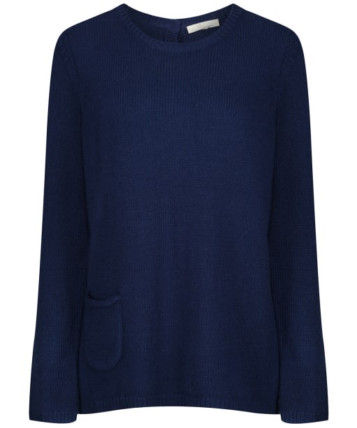 Women's Seasalt Lino Cut Jumper - French Blue