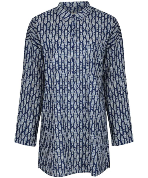 Women's Seasalt Polpeor Tunic Shirt - Fish Marks Marine