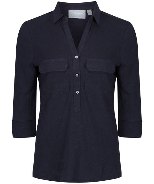 Women's Schoffel Marina Jersey Shirt Top - Navy