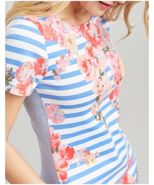 Women's Joules Ottie Shift Dress - Blue Stripe Floral